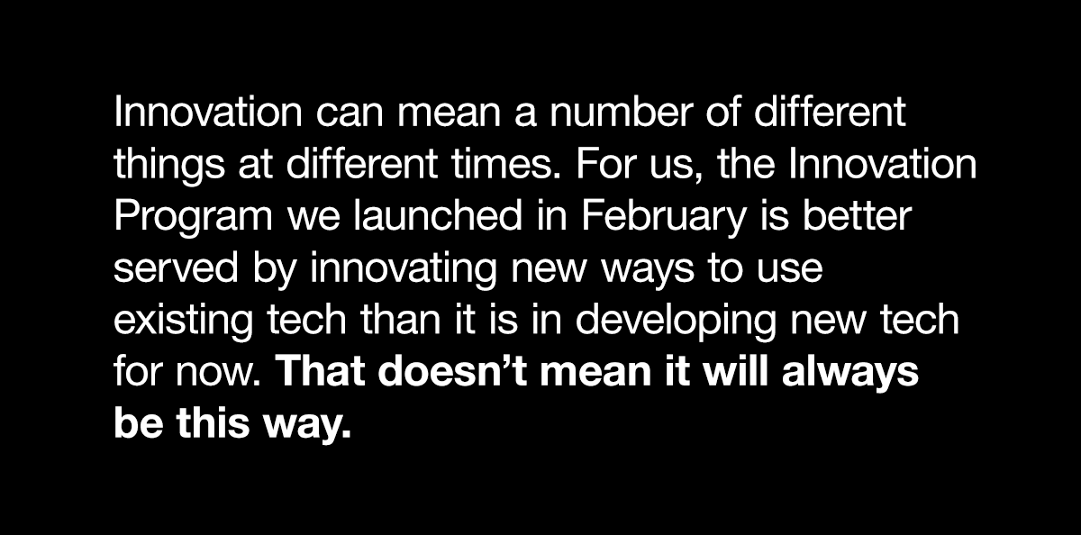 Pulled quote about innovation